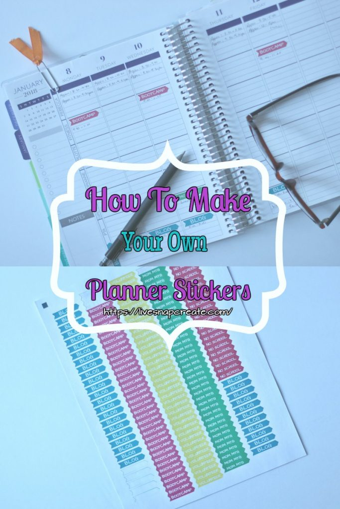 How to make personalized planner stickers live snap create for Create custom planner