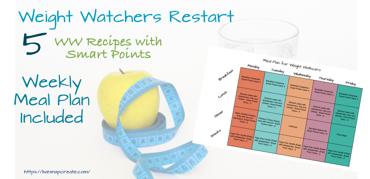 Weight Watchers Meal Plan Week 1