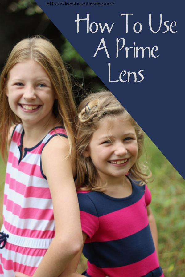 How to use a prime lens pin