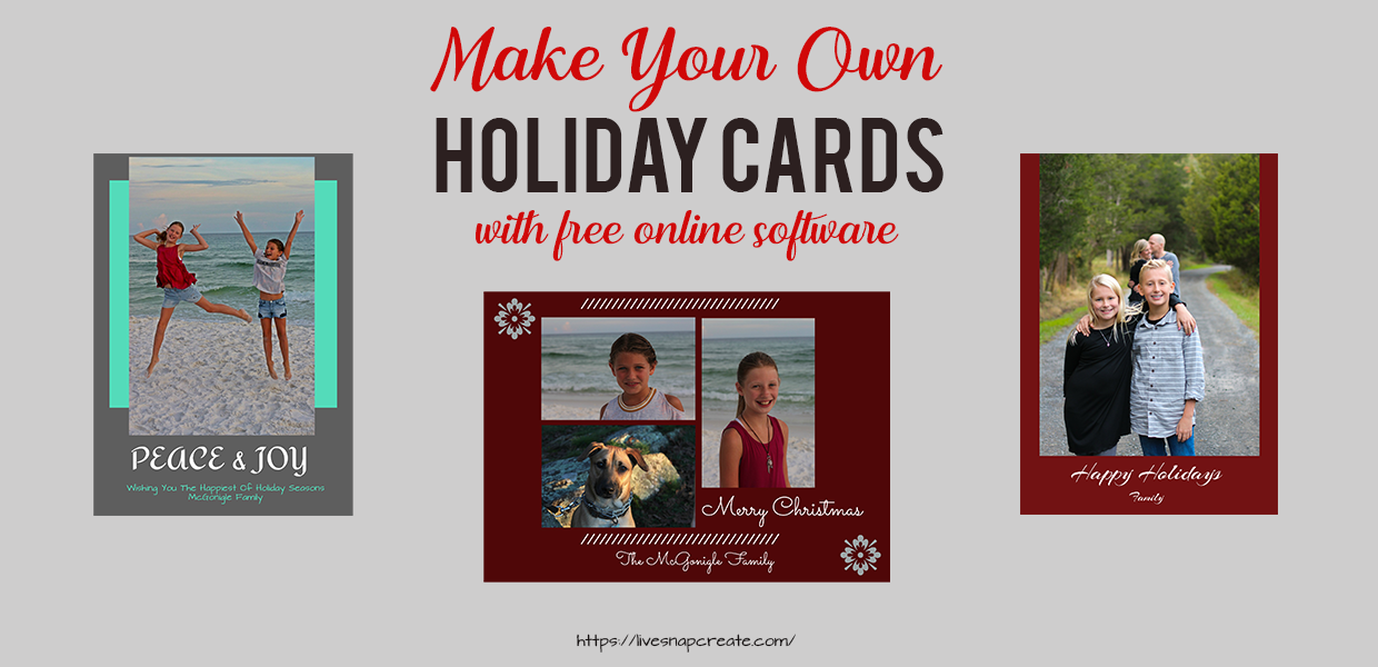 Make your own holiday cards tutorial