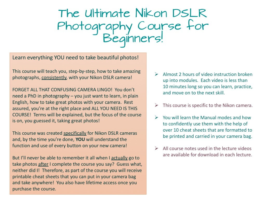Nikon Photography Course for Beginners