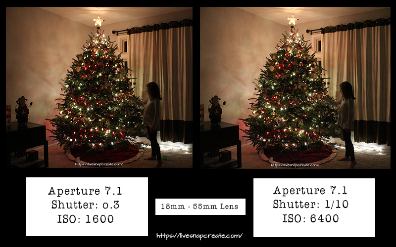 How to photography christmas lights