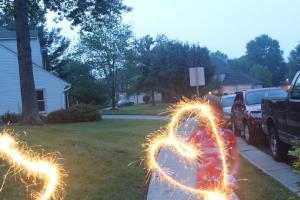 Fireworks image using shutter speed