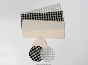 Supplies cut for DIY padded lens case